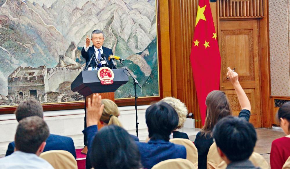 中國駐英國大使劉曉明周三在倫敦召開記者會,批評英國干預香港內部事務和中國內政。
