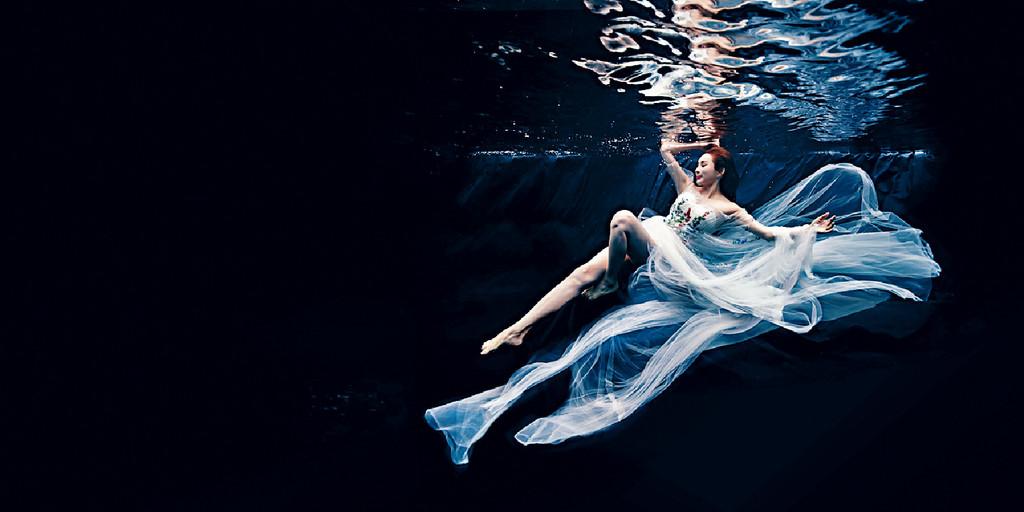 ?■羅霖表示難度最高是水底攝影,效果令她很滿意。