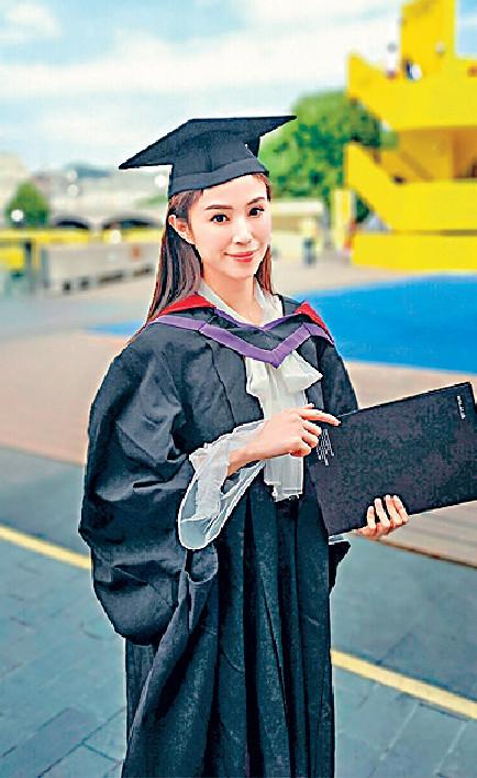 ■何倍倩曾同一時間攻讀兩個碩士課程,去年終於畢業了。