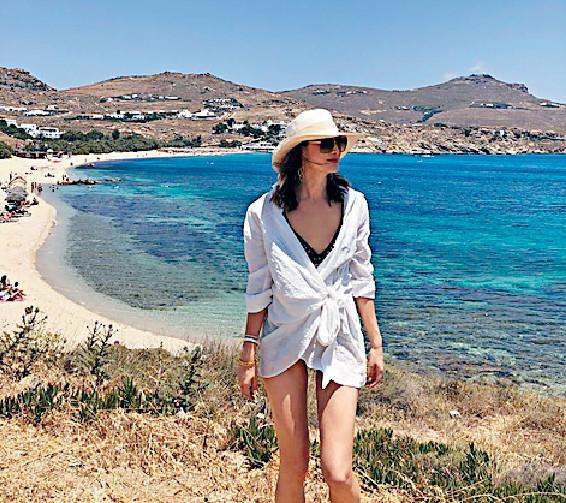 ■Danielle揀去希臘全因愛享受陽光與海灘。