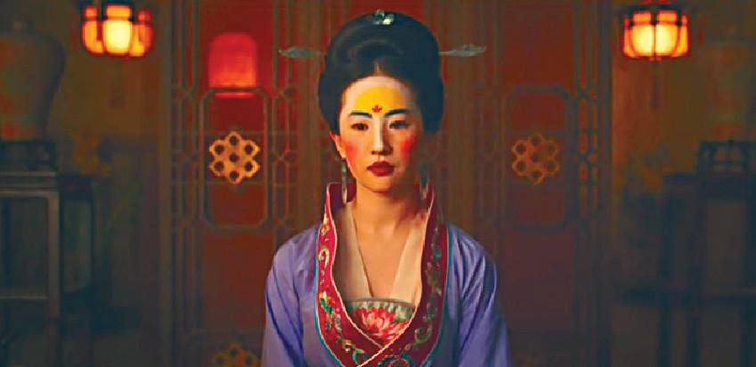 ■劉亦菲在《花木蘭》中被安排盲婚啞嫁。