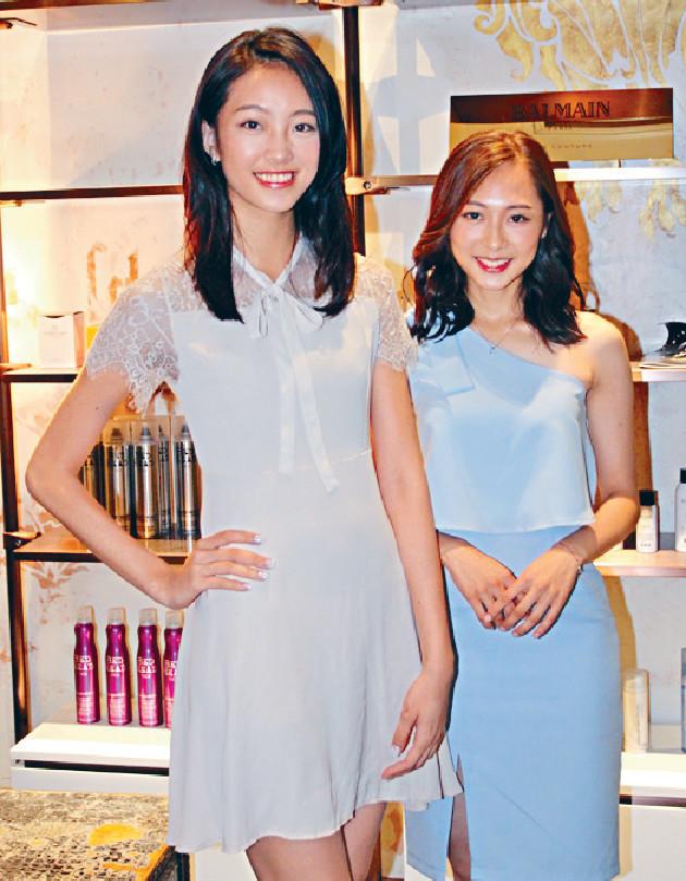■「九頭身美女」楊詠彤(左)與黃詠柔都高質。