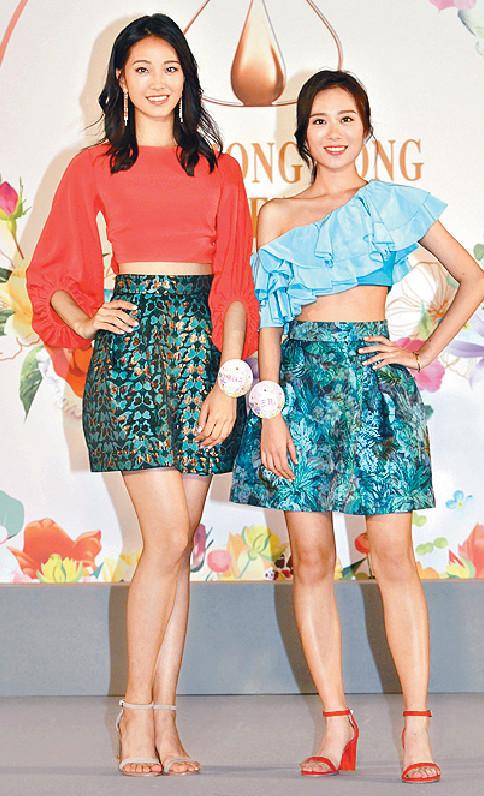 ■曾任模特兒的王菲(Fei,右)及楊詠彤(Katy)需有幕前經驗,但都好緊張。