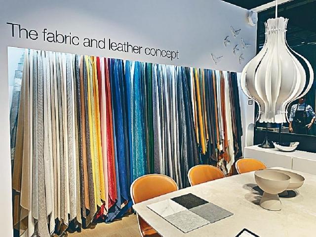 ■BoConcept的家具可以訂造,顧客可自選喜愛顏色、用料及質地。受訪者提供