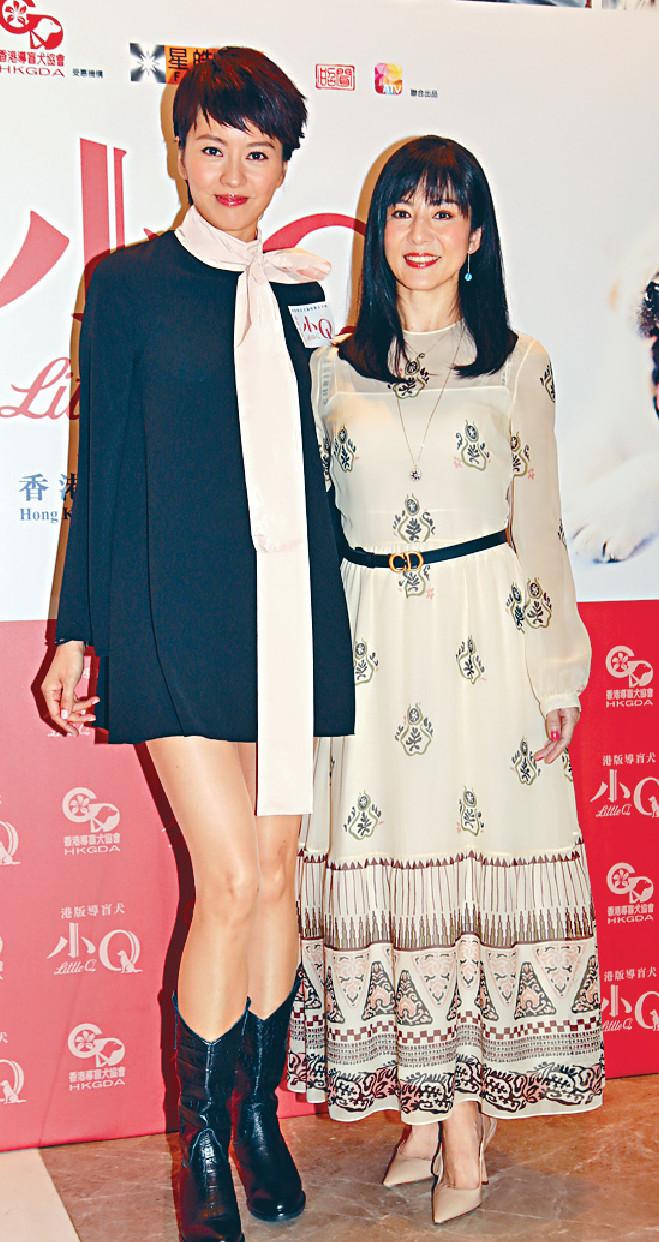 ■梁詠琪與楊采妮一齊出席電影首映禮。