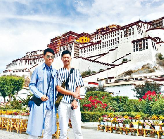 ■王賢誌與Kevin到達西藏第一大景點就係拉薩的布達拉宮。