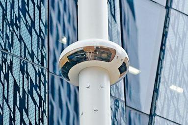 ■其中兩支智慧燈柱裝有全景攝影機。