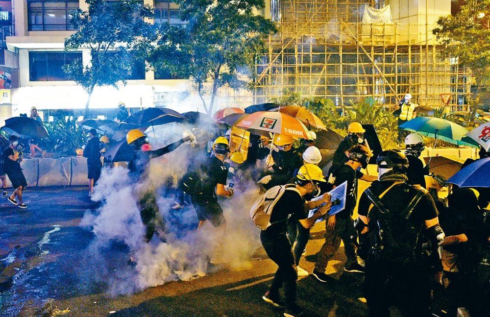 剛過去的周日,反《逃犯條例》遊行再演變成衝突。