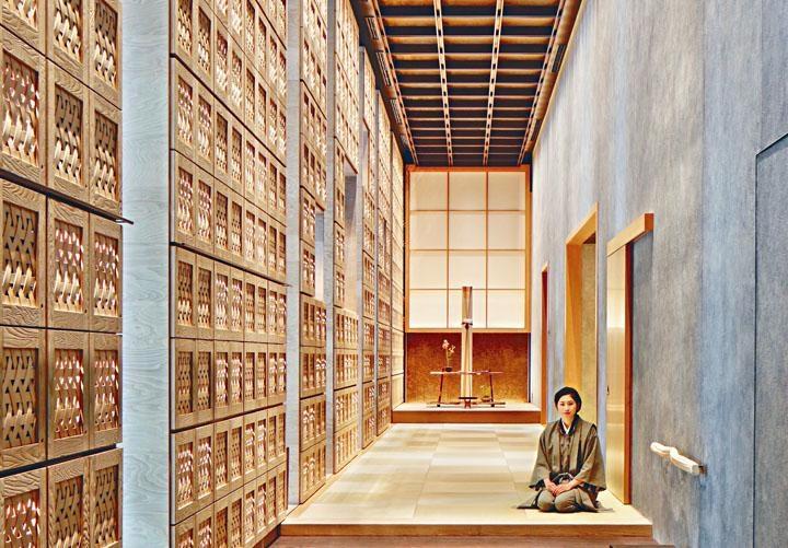 ●虹夕諾雅東京的內部布置和風滿溢。