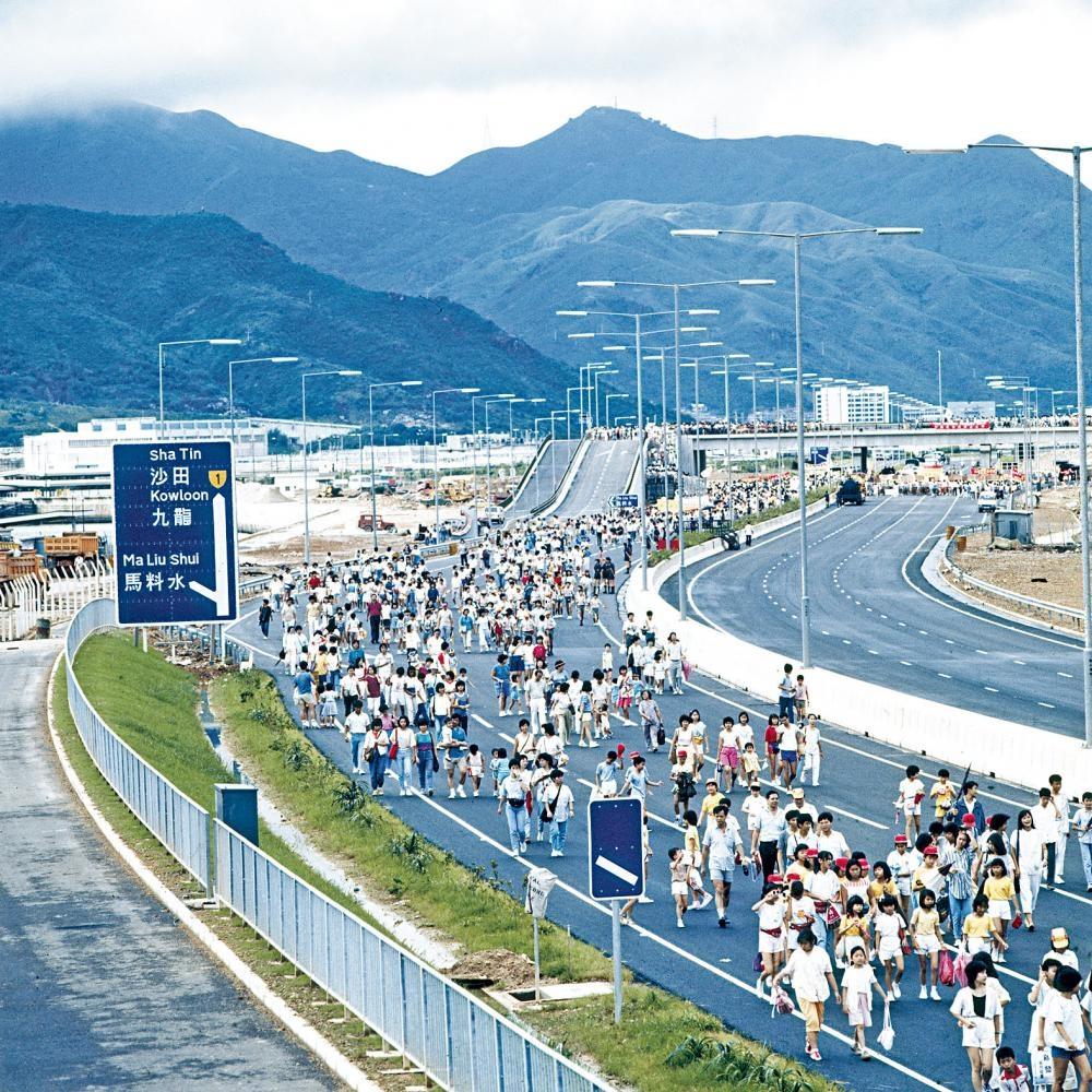 「公益金百萬行」是不少港人的集體回憶,圖為1984年活動實況。