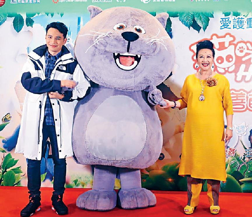 ■家燕姐同王梓軒近日常連體為《貓咪媽咪Home》宣傳。