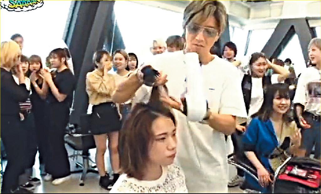 ■木村為女同學吹頭時好有功架。
