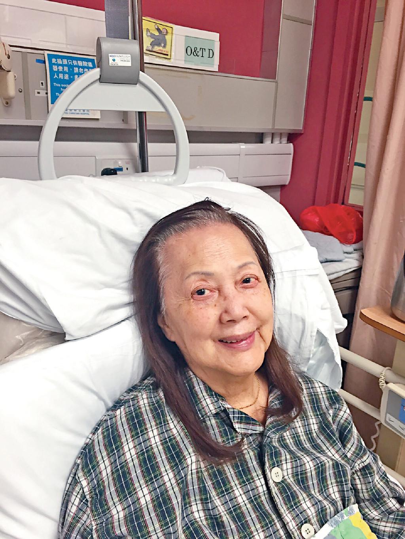 ■夏萍2015年曾在寓所不小心跌倒,結果要送院治理。