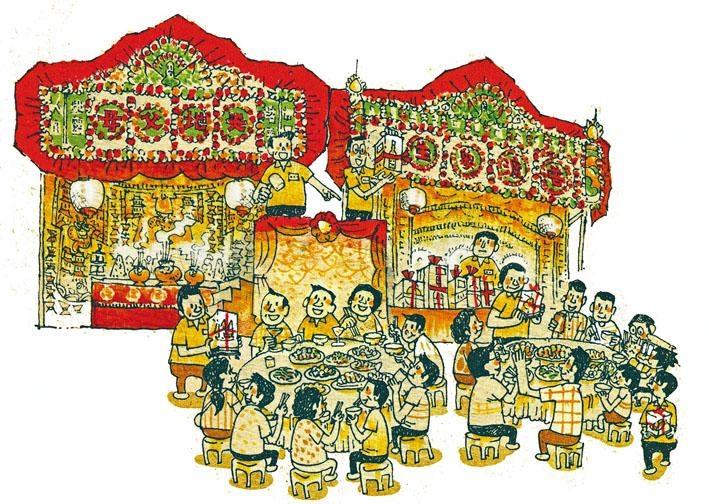 盂蘭勝會活動包括福品競投,目的是籌集來年的活動經費。