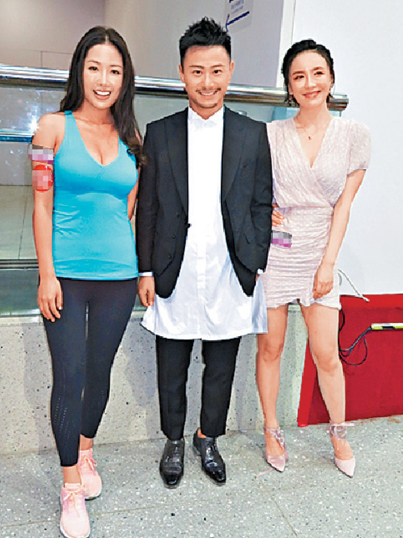 ■早前為寫真相,佳容來港跟崔碧珈和楊潮凱出席宣傳。