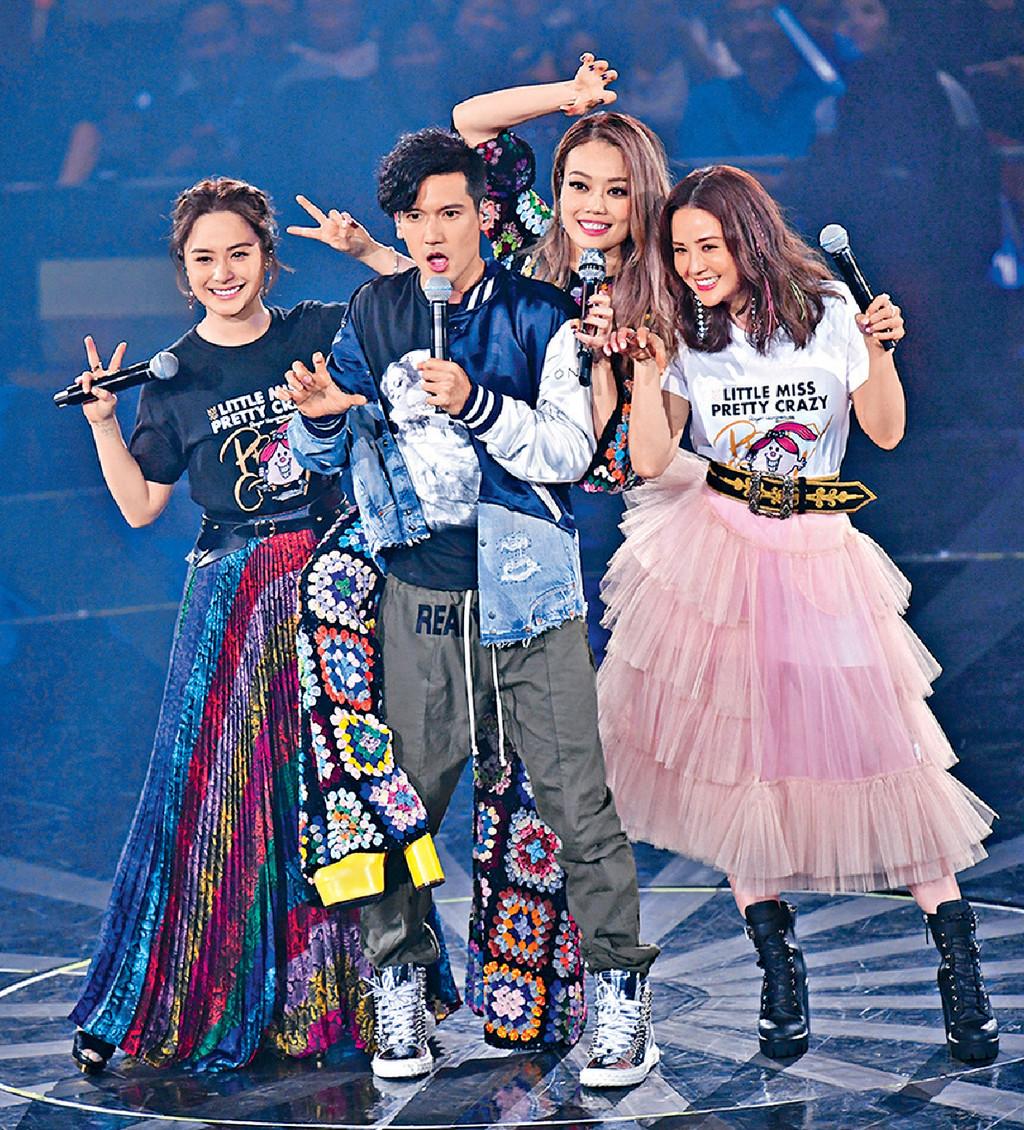 ■容祖兒前晚邀請阿Sa、阿嬌和Kenny擔任個唱嘉賓。