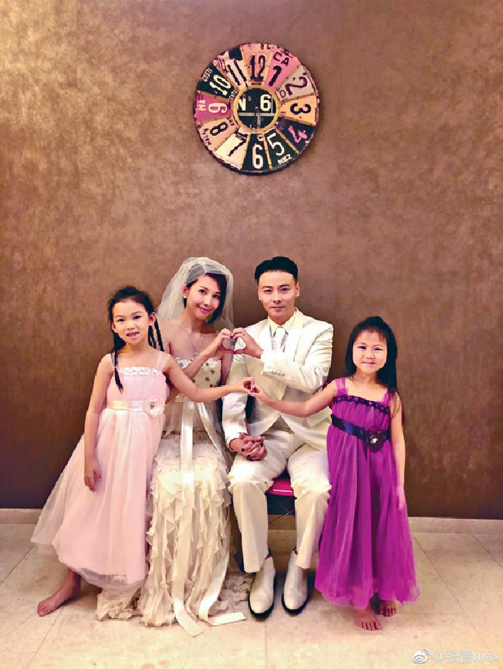 幸福四口擴大 ■張晉和太太育有兩個寶貝女,年尾將變五口之家。