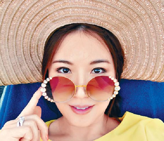 ■劉倩婷今次到峇里做足防曬措施。