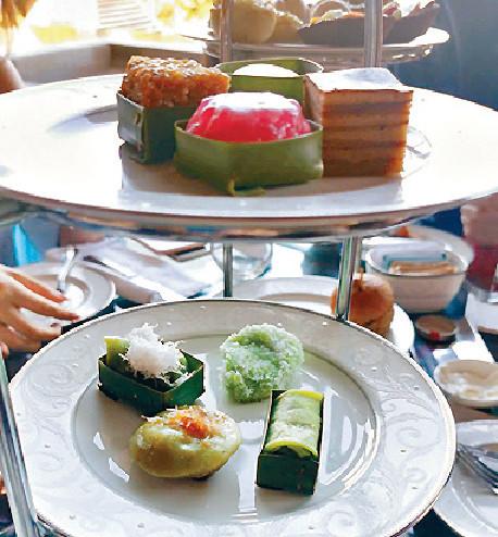 ■兩夫婦在當地high tea歎特色糕點。