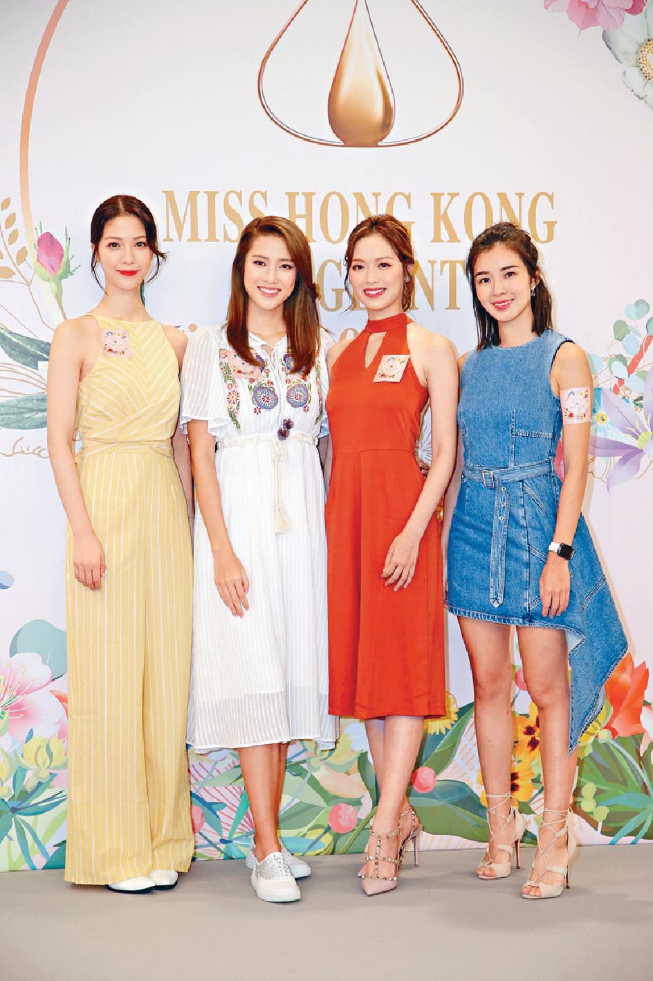 ■(左起)陳曉華、劉穎鏇、馮盈盈和麥明詩即場選出心水冠軍。