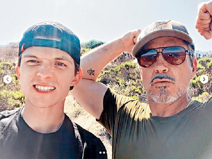 ■湯姆(左)和羅拔唐尼私交甚篤。網上圖片