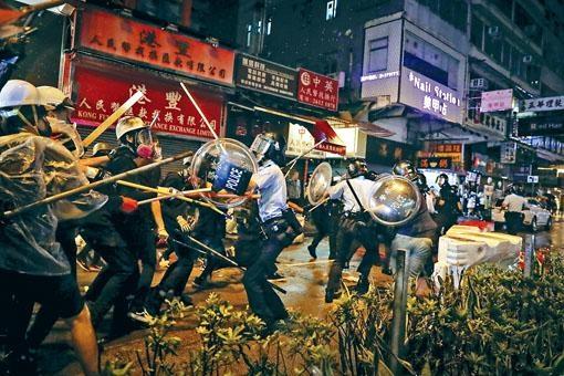 剛過去的周日「荃葵青遊行」演變成衝擊,警員受傷。
