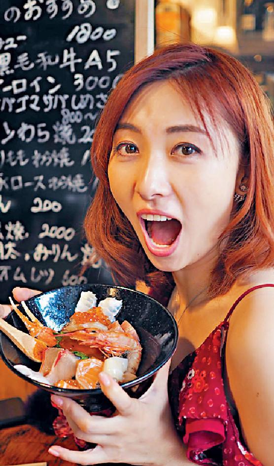 ■陳爽到福岡當然要品嚐大大碗海鮮飯。