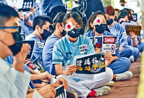 ■律敦治醫院醫護上月曾發起靜坐集會。