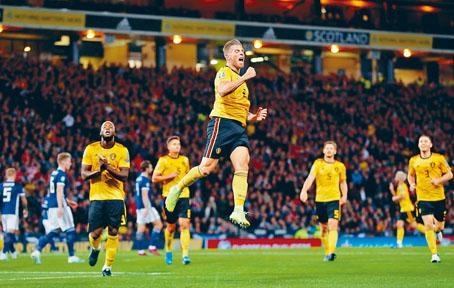 比利時作客四球大勝蘇格蘭。