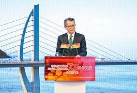 陳茂波出席金融服務界賀國慶70周年活動。