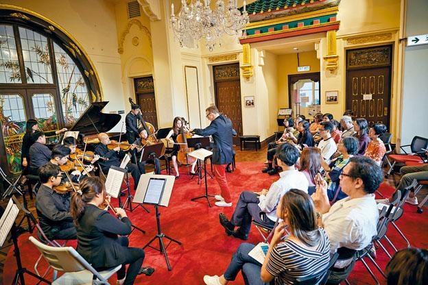 大宅空間寬敞,具備條件成為亞洲首個在古迹內進行的室樂課程。