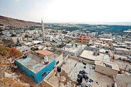 西岸約旦河谷的巴勒斯坦人房屋。