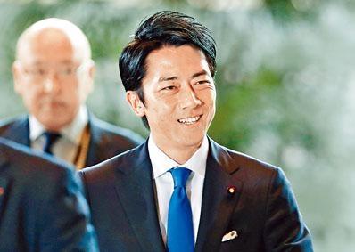小泉進次郎出任環境大臣。