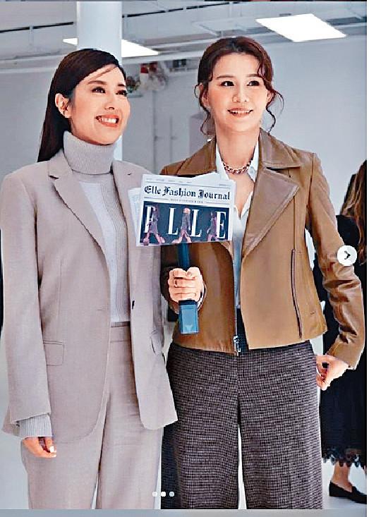 ■翠如同老友唐詩詠一齊出席紐約時裝周。