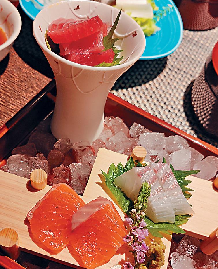 ■到日本必食活魚刺身,橙色的是滋賀縣的「虹鱒」,值得一試。