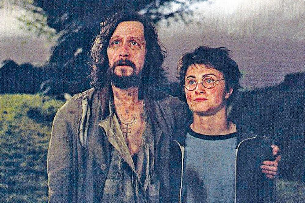 ■哈利波特當年與天狼星的「父子情」令人難忘。資料圖片