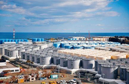 福島第一核電廠內的核廢水儲存庫。