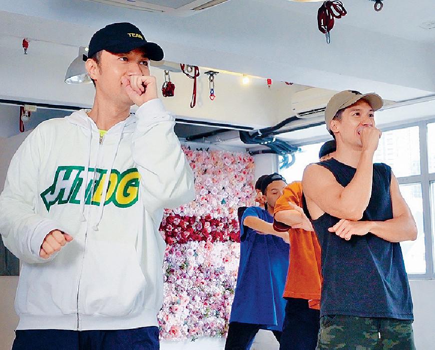 ■基仔和Kenny認真排練唱跳。