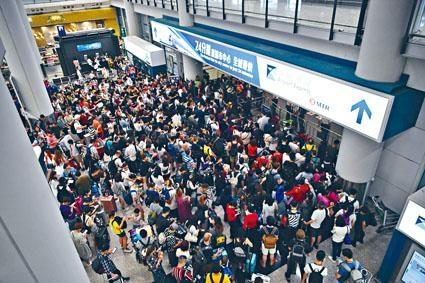 ■反修例風波持續,香港機場上月客運及貨運量均出現雙位數跌幅。