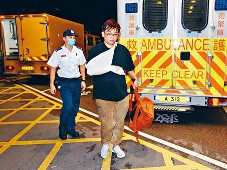 兩名探員拘捕疑匪時遇反抗受傷送院。