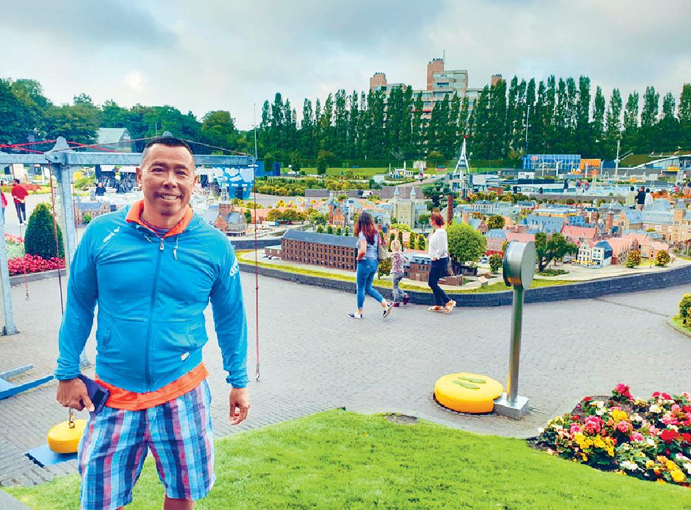 ■顏福偉首次到海牙的景點「小人國」參觀。