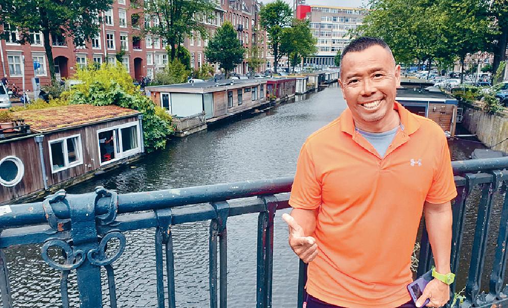 ■顏福偉相隔30多年再踏足Amsterdam覺得好新鮮。