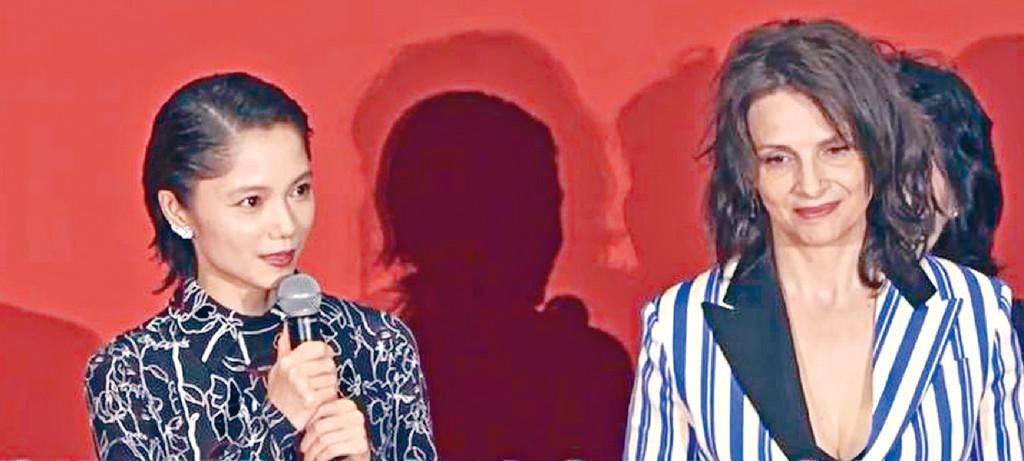 ■宮崎葵(左)見到偶像茱麗葉甚興奮。