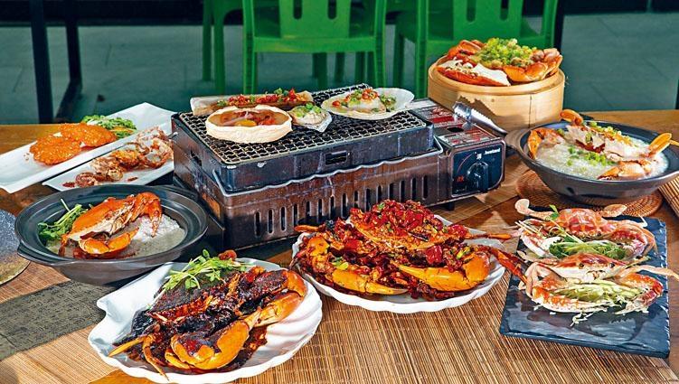 ●蟹宴共有八道菜,以日式松葉蟹、軟殼蟹、紅蟹、大肉蟹、菲律賓奄仔蟹等為食材,炮製各式蟹饌。