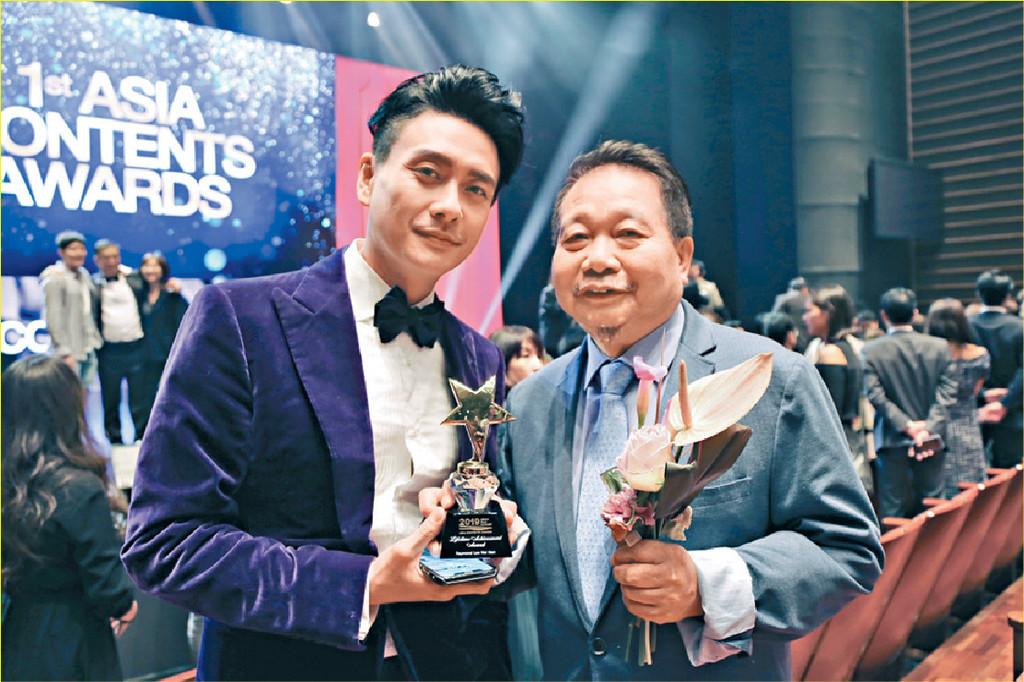 ■Bosco現身賀導演李惠民獲頒獎禮頒「終身成就獎」。