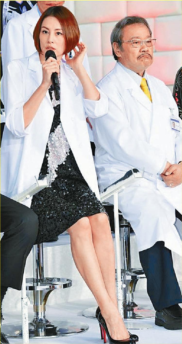■米倉出席記招時,自爆開鏡前患上腦脊髓液減少症。