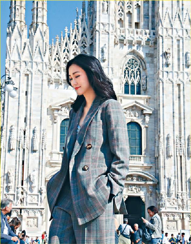 ■謝安琪在米蘭搵了很多靚景拍片。