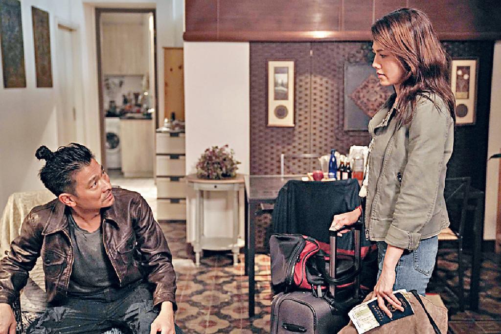 影壇拾級而上 ■早前,電影《掃毒2天地對決》中,娜姐與劉德華合作,飾演對方前女友。
