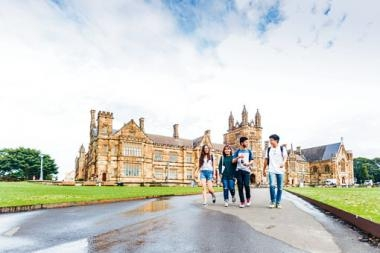 澳洲和英國都是香港學生熱門的升學地點,圖為澳洲的雪梨大學。