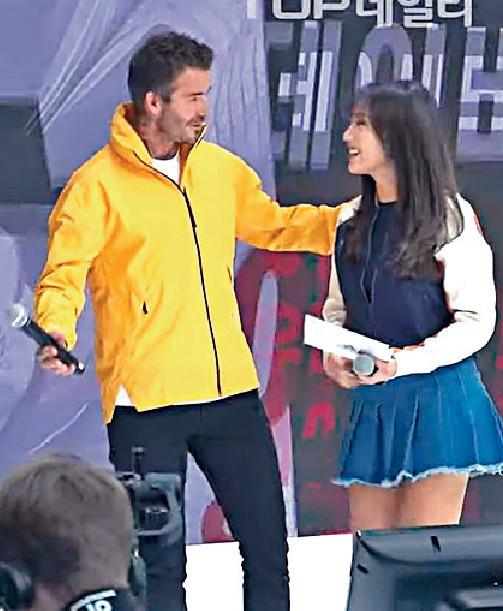 ■碧咸在台上談笑風生,沒有異樣。